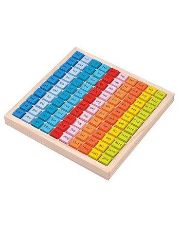Lelin - Tabliczka mnożenia kolorowa do 100