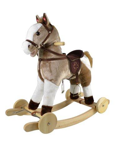 Przytul i kochaj - Konik Mustang na biegunach z kołami