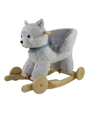 Przytul i kochaj - Bujak Husky z fotelikiem i kołami