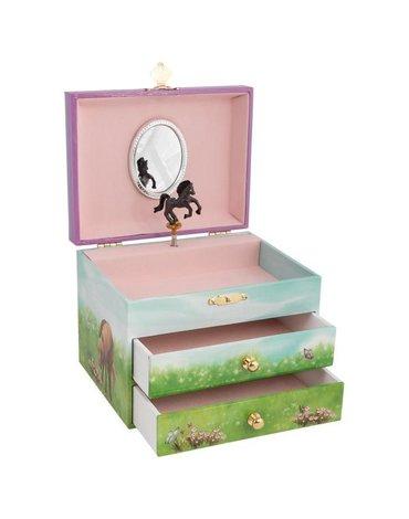 Goki - Szkatułka z pozytywką i dwoma szufladkami