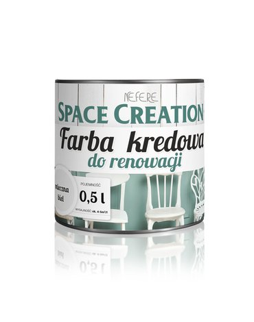 Space Creation farby - Farba do renowacji Space Creation biała 0,5l