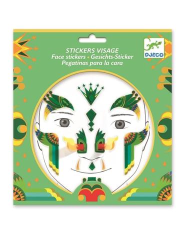 Djeco - Naklejki na twarz SMOK DJ09217