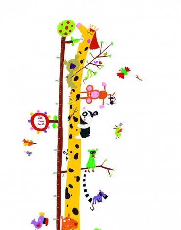 Djeco - Naklejka z miarką wzrostu ŻYRAFA