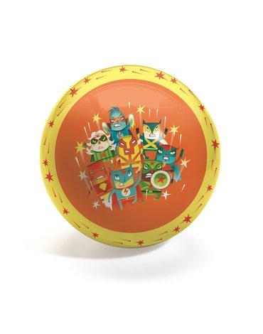 Djeco - Piłka gumowa SUPER HEROES średnica 22 cm