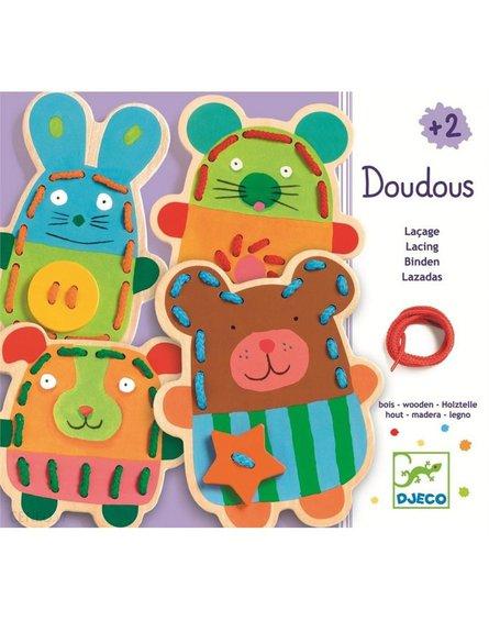 Djeco - Drewniane zwierzaki do przewlekania DJ01680