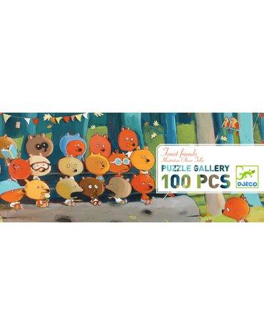Djeco - Puzzle gallery Leśni Przyjaciele  - 100 el. DJ07636