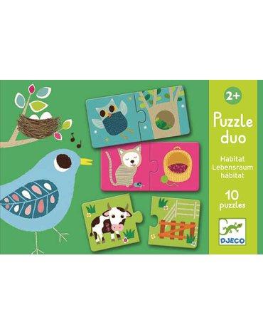 Djeco - Puzzle duo ZWIERZĄTKA DJ08164