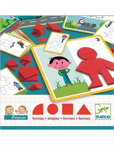 Djeco - Gra eduludo układanie z figur geometr. DJ08300