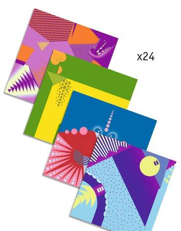 Djeco - Origami DINOZAURY zestaw 24 szt DJ08758