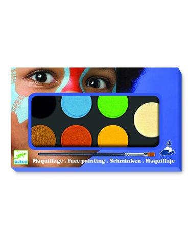 Djeco - Farby do malowania twarzy NATURE - 6 kol DJ09230
