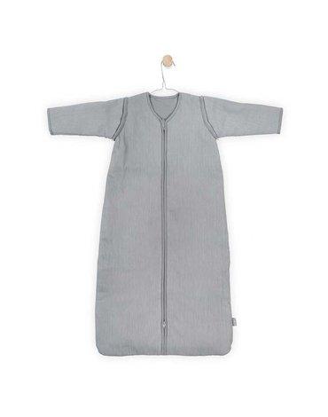 Jollein - Baby & Kids - Jollein - Śpiworek niemowlęcy całoroczny 4 pory roku z odpinanymi rękawami Rib Stone Grey 70 cm