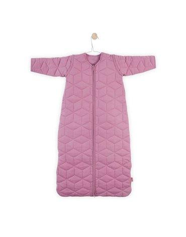 Jollein - Baby & Kids - Jollein - Śpiworek niemowlęcy całoroczny 4 pory roku z odpinanymi rękawami Graphic Quilt Mauve 70 cm