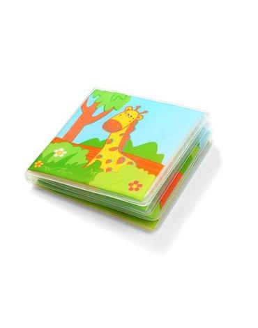 Babyono - 887 Miękka książeczka z piszczkiem dla dzieci i niemowląt WILD ANIMALS