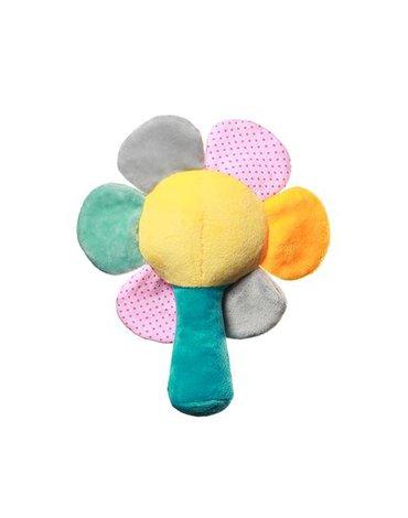 BABYONO - 609 Grzechotka dla niemowląt RAINBOW FLOWER