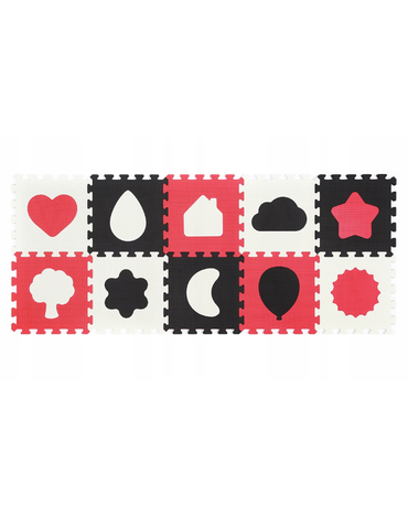 BABYONO - 395/01 Puzzle piankowe 10szt kształty