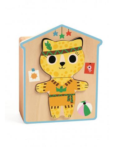 Djeco - Drewniane puzzle PRZEBIERANKI DJ01678