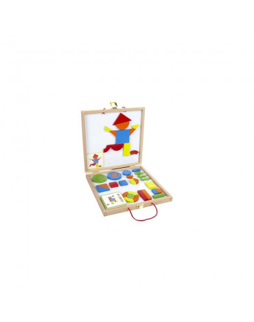 Djeco - Magnesy drewniane układanka w walizce DJ03130