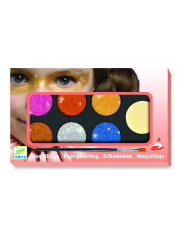 Djeco - Farby do malowania twarzy METALLIC - 6 kol DJ09232
