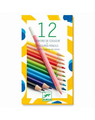 Djeco - Kredki ołówkowe - 12 kolorów DJ09751