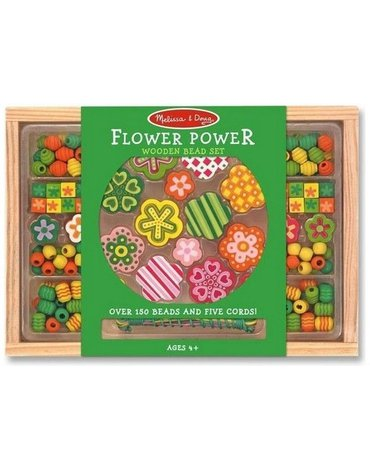 Melissa&Doug® - Zielony zestaw koralików Kwiatuszki