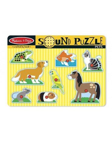 Melissa&Doug® - Puzzle dźwiękowe - Zwierzęta domowe