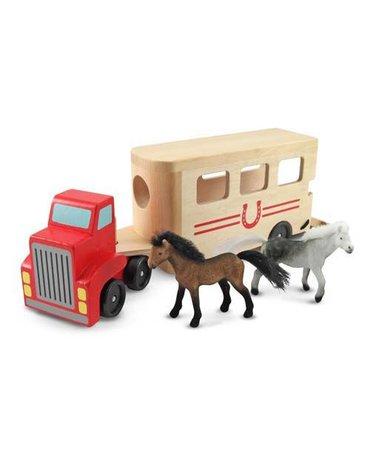 Melissa&Doug® - Ciężarówka z przyczepą dla koni