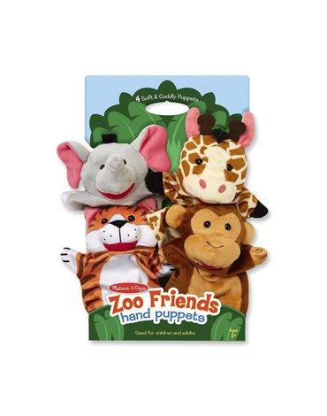 Melissa&Doug® - Pacynki na rękę Zoo komplet 4 szt.