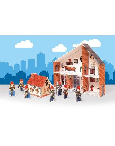 Tektorado - Zabawka kartonowa - Remiza strażacka do składania