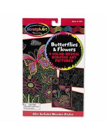 Melissa&Doug® - Zdrapka do grawerowania motylki i kwiatki