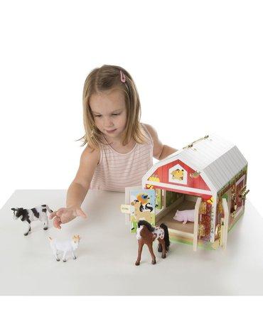 Melissa&Doug® - Stodoła z zamknięciami - stodoła ze zwierzątkami 4szt.