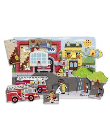Melissa&Doug® - Puzzle dźwiękowe - Remiza strażacka