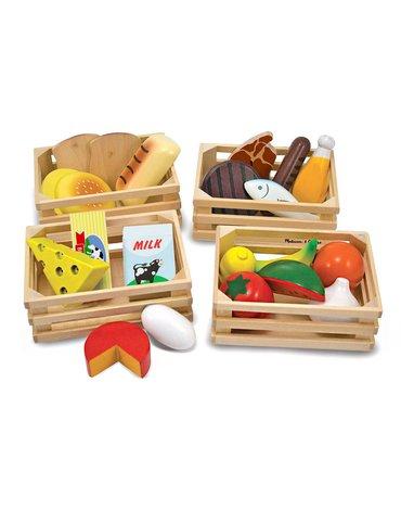 Melissa&Doug® - Jedzenie drewniane - 4 rodzaje w skrzynkach