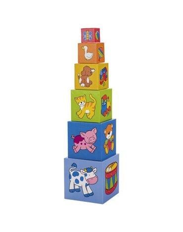 Goki® - Klocki kartonowe - wieża 57cm