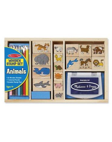 Melissa&Doug® - Stempelki drewniane Animals od Melissy
