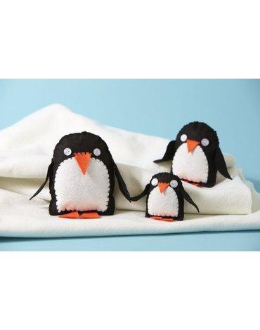ButtonBag - Zestaw kreatywny - Rodzina pingwinów