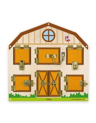 Viga - Układanka panel ścienny - stodoła z zamknięciami