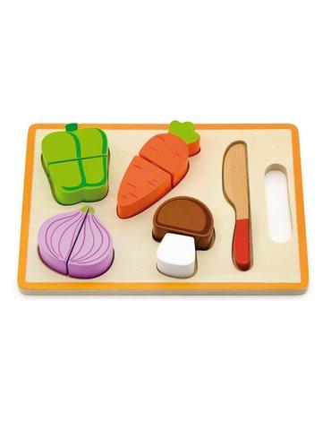 Viga - Warzywa na desce drewniana zabawka