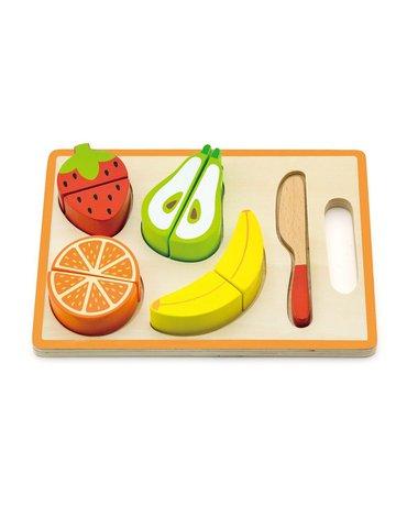 Viga - Owoce na desce zabawka drewniana