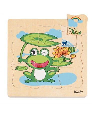 Woody - Puzzle warstwowe życie żaby