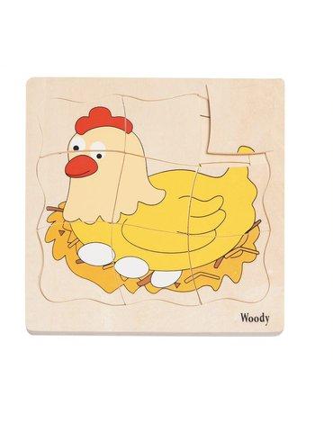 Woody - Puzzle warstwowe życie kurki
