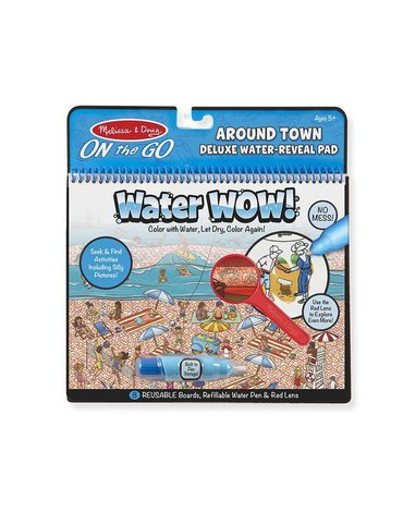 Melissa&Doug® - Malowanka wodna Kolorowanka Zestaw DeLuxe z lupą Świat ludzi WaterWOW