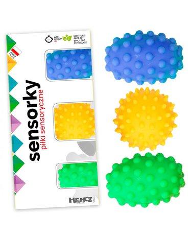 Mom'sCare - Piłeczki sensoryczne 3 sztuki w pudełku