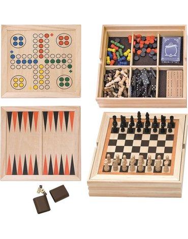 Woody - Zestaw gier w drewnianym pudełku