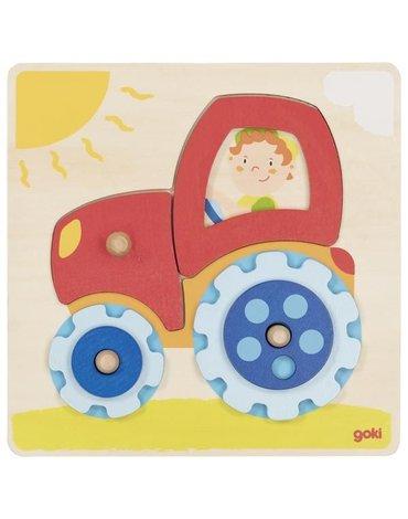 Goki® - Goki Układanka z traktorem