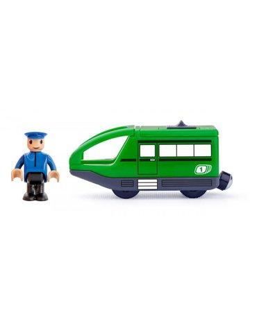 Woody - Pociąg z maszynistą na baterie zielony