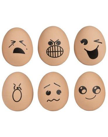 Goki® - Piłeczka jajko - zestaw 6 sztuk