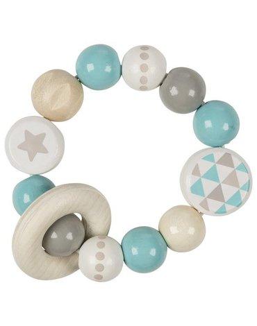 Heimess - Grzechotka pierścień elastyczny turkusowa z gwiazdką