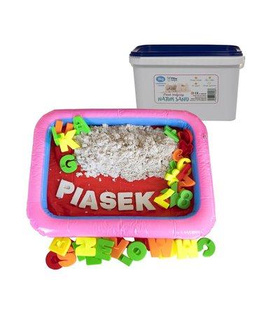 Nefere zabawki piasek - Piasek kinetyczny 3 kg NaturSand z foremkami i piaskownicą