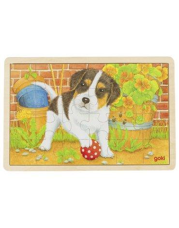 Goki® - Puzzle drewniane szczeniaczek