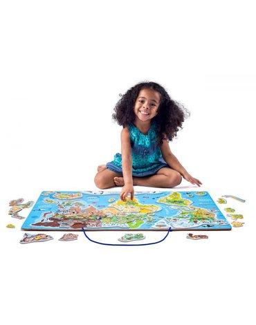 Woody - Mapa świata tablica edukacyjna 2w1